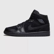 【基本碼全】Jordan Air 1 喬丹黑色中幫籃球鞋