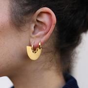 Lucy Williams x Missoma 18ct 鍍金復古圓環扇形耳環