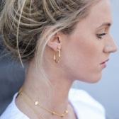 Missoma 18ct 鍍金不規則半圓環耳環
