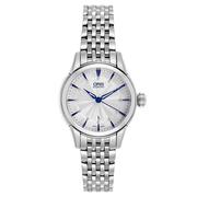 Oris 豪利時 Artelier 系列 銀藍色女士自動機械腕表 01561768740310781477