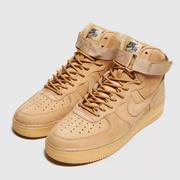 Nike 空軍1號黃色麂皮高幫運動鞋