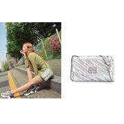 【泫雅同款】Balenciaga BB 銀色鏈條包