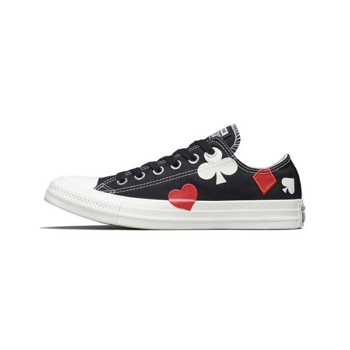 【一雙免郵】Converse 新款花色裝飾平底帆布鞋