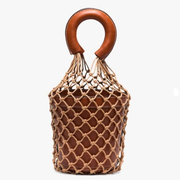 Staud Brown Moreau Bucket Bag 經典棕色網兜包