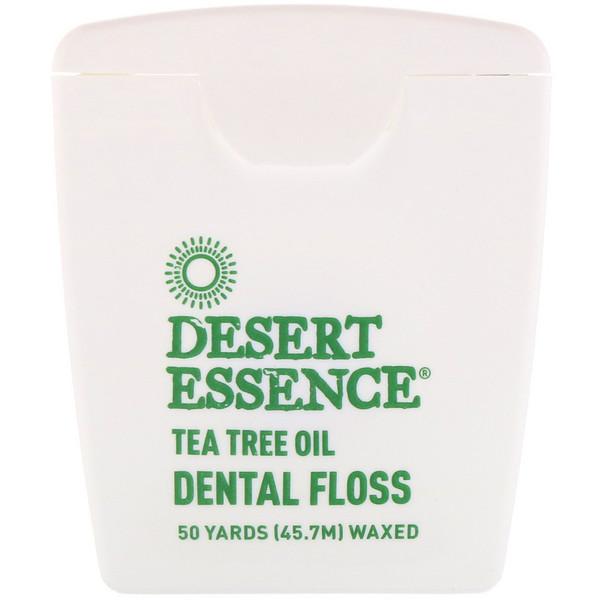 【9折+再9.5折】Desert Essence 茶樹油牙線 上蠟 45.7米