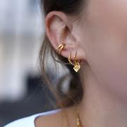 Lucy Williams x Missoma 18ct 鍍金迷你圓環珠飾耳環