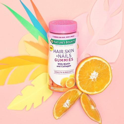 【買1送1+首件立減$2】全新口味!Nature's Bounty 自然之寶 膠原蛋白軟糖 柑橘口味 80粒