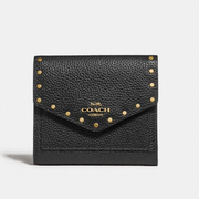Coach Small Wallet With Rivets 鉚釘裝飾小錢包