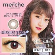 【滿額免郵中國】merche by ANGELCOLOR 月拋美瞳 14.5mm 雪梅棕 1片