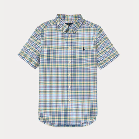 Ralph Lauren 拉夫劳伦 Plaid Cotton Poplin 大童格纹衬衫