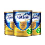 【包郵包稅】Aptamil 金裝嬰幼兒奶粉 2段 900g*3罐