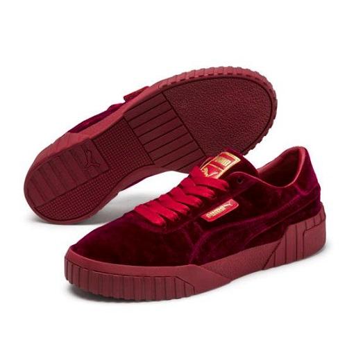 【補碼額外7折】Puma 彪馬 Cali Velvet 女子絲絨板鞋