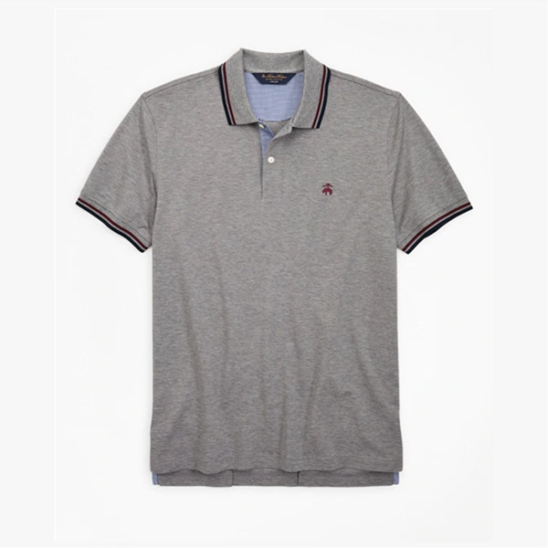 Brooks Brothers 灰色纯色 Polo 衫短袖