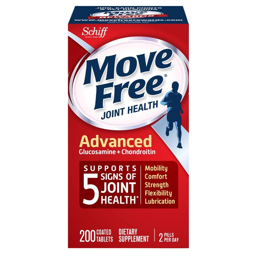 【中亞Prime會員】Schiff Move Free 維骨力氨基葡萄糖氨糖軟骨素 紅瓶 200粒