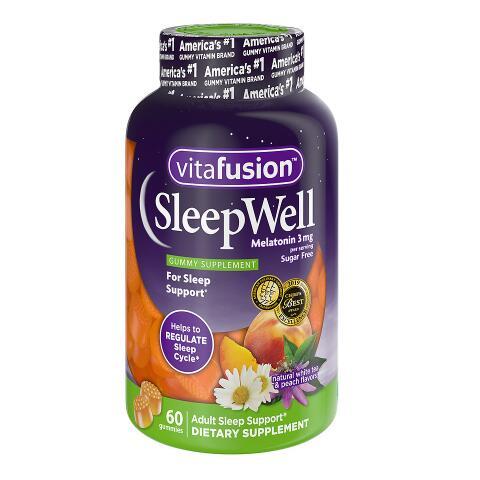 Vitafusion SleepWell 褪黑素3mg 睡眠軟糖 60粒