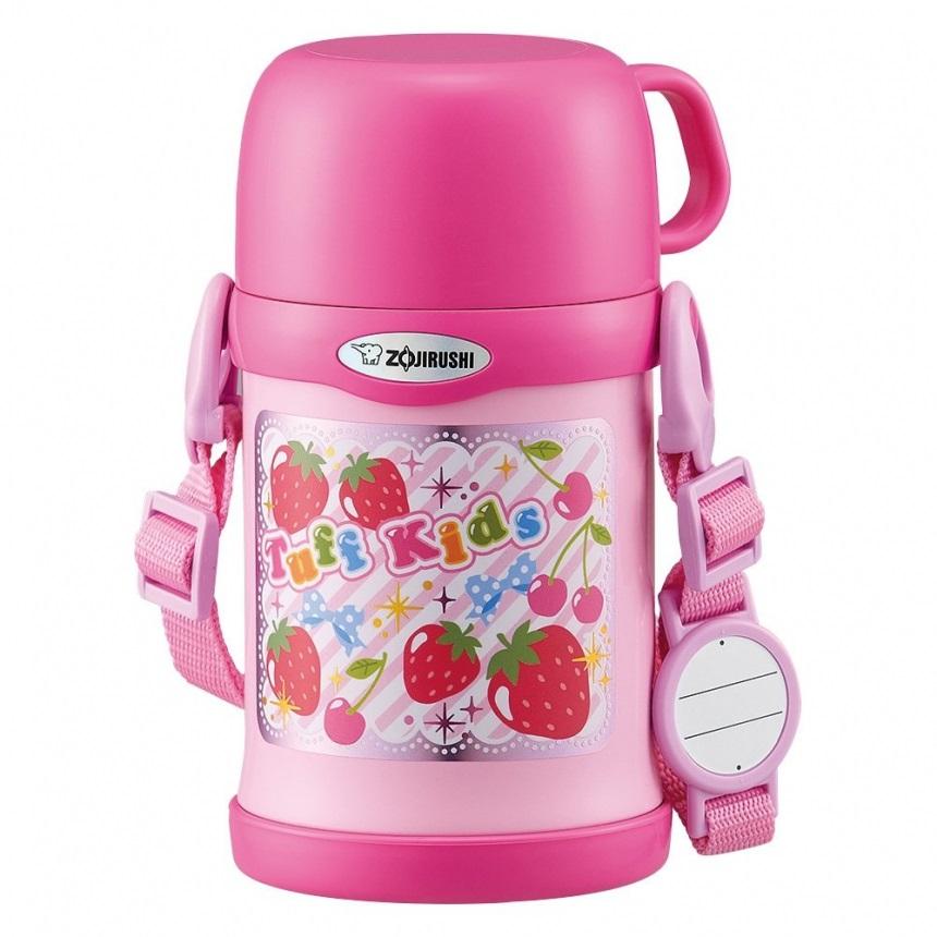 【中亞Prime會員】Zojirushi 象印 不銹鋼兒童保溫杯 帶杯蓋 450ml SC-ZT45-PA 粉色草莓款
