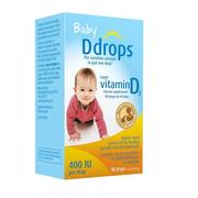 【第2件半價+滿$40額外8.5折】Ddrops 嬰兒維生素D3滴劑 400IU 90滴