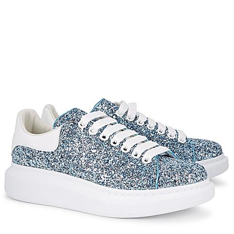 Alexander McQueen 亞歷山大麥昆 新款藍色亮片鞋
