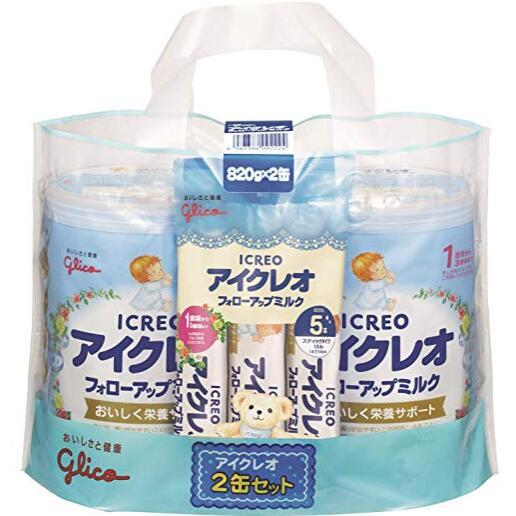 閃促價!【日亞自營】ICREO 固力果 2段嬰幼兒奶粉 820g*2+13.6g*5袋