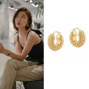 savislook同款!新系列!Missoma 18ct 金色珠子圓環耳環
