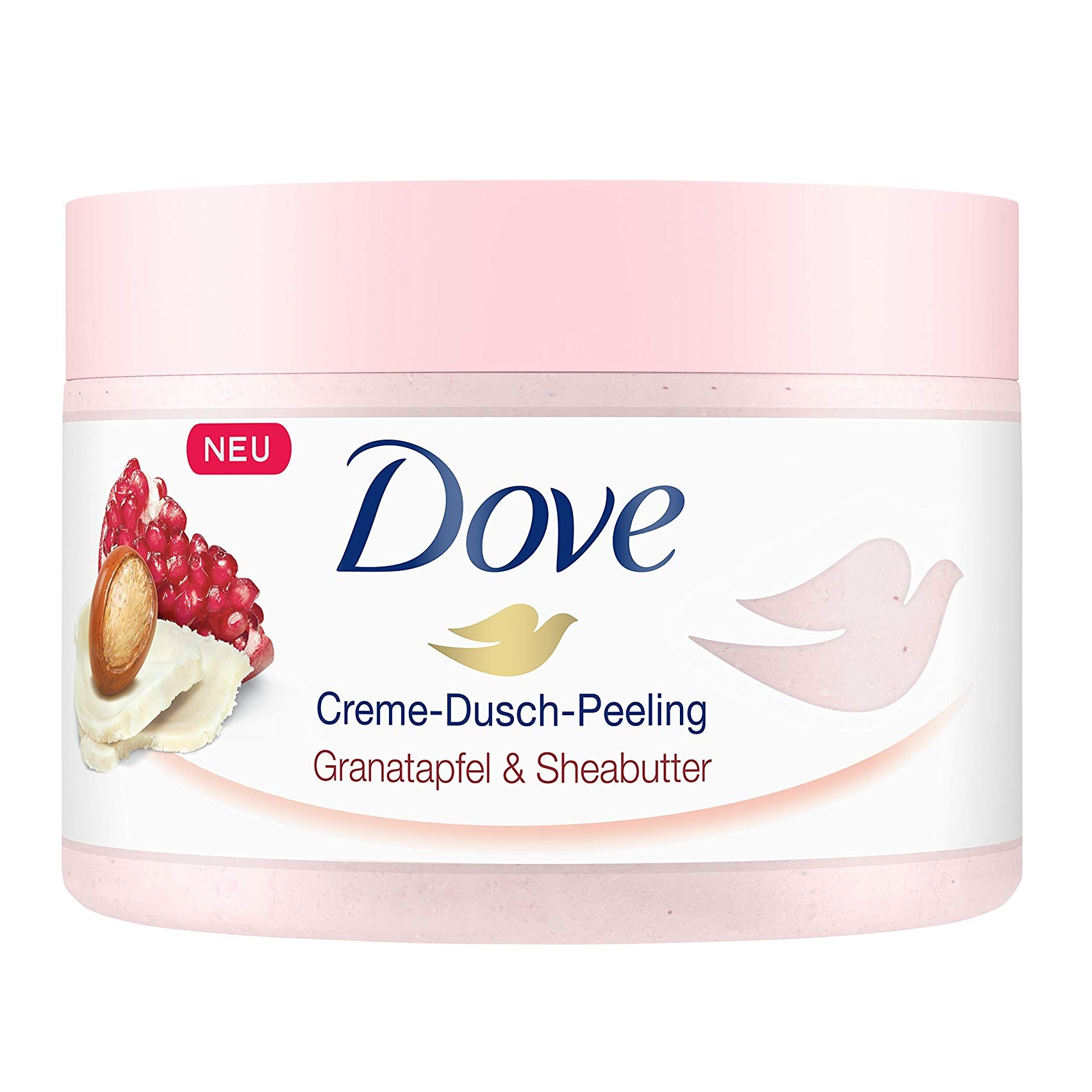 【已斷貨】【中亞Prime會員】Dove 多芬 石榴籽和乳木果風味冰激凌身體磨砂膏 225ml*4罐