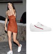 【肯豆同款】ADIDAS ORIGINALS Continental 80 羅緞邊飾紋理皮革運動鞋