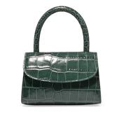 BY FAR 仿鱷魚紋皮革迷你手提包