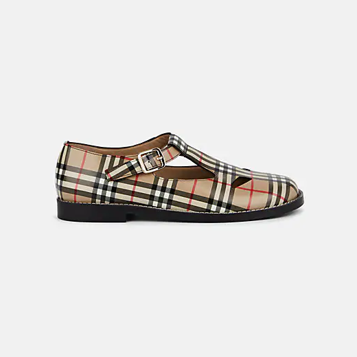 Burberry Kipling Leather Mary Jane Flats 玛丽珍凉鞋