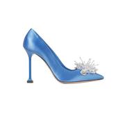MIU MIU 緞面水晶高跟鞋