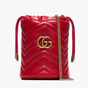 Gucci Red Marmont 紅色水桶包