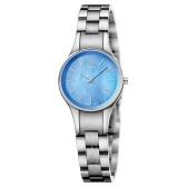 1件美境免郵!Calvin Klein 卡爾文·克萊因 Simplicity 系列 銀藍色女士時裝腕表 K432314N