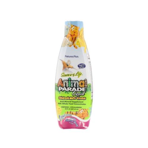 【2件0稅免郵】Nature's Plus 兒童復合維生素飲料 熱帶漿果味 887.10ml