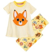 限時美境免郵!Disney 迪士尼 狐貍與獵狗 女孩睡衣套裝