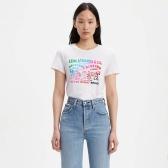 Levi's 彩色撞色印花白色T恤