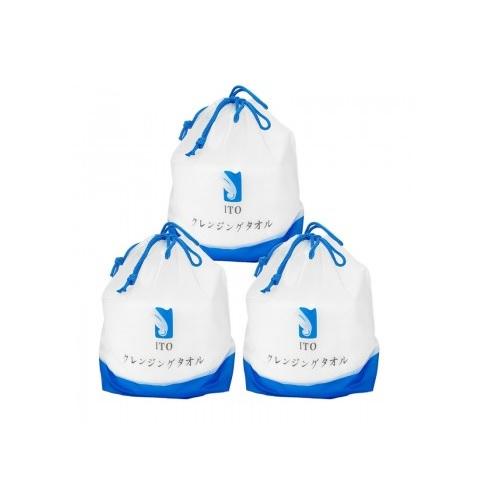 【滿額包稅免郵中國】ITO 珍珠棉柔潔面巾洗臉巾 3包