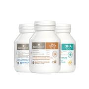 【3瓶套裝】Bio Island 嬰幼兒三寶 液體乳鈣 90粒+鱈魚肝魚油 90粒+DHA 60粒