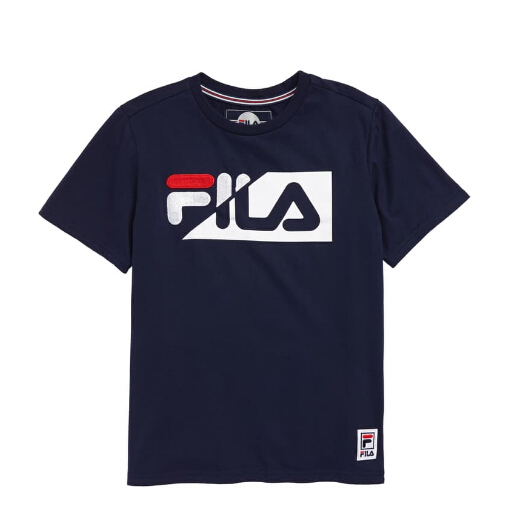 FILA NAVY Logo Twist T-Shirt 童款T恤衫