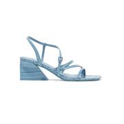 MERCEDES CASTILLO Kelise 仿鱷魚紋皮革涼鞋