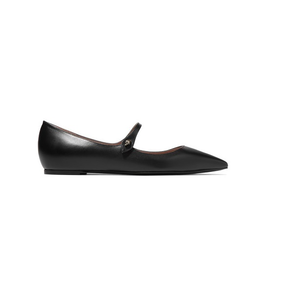 TABITHA SIMMONS Hermione 皮革尖頭平底鞋