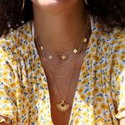 Missoma 金色扇形珠子吊墜項鏈