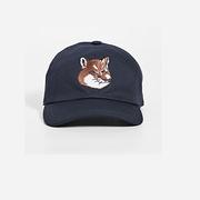 Maison Kitsune Fox Head 狐貍頭刺繡棒球帽
