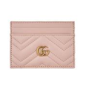 Gucci Marmont 粉色小卡夾