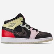 【限時超高返利】喬丹 Air Jordan 1 Mid SE 大童款籃球鞋 黑粉