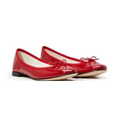 REPETTO Cinderella 經典款紅色漆皮芭蕾舞平底鞋