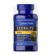 提高記憶力!Puritan's Pride 普麗普萊 Neuro-PS 磷脂酰絲氨酸膠囊 300mg 60粒