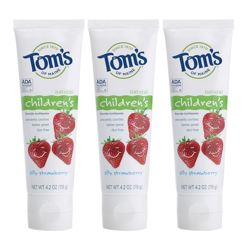 【中亞Prime會員】Tom's of Maine 兒童草莓味含氟牙膏 119g*3支