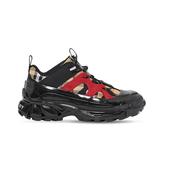 【湊單推薦】BURBERRY 55毫米格紋尼龍&橡膠運動鞋