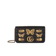 【澳門匯率優勢】Gucci Mini Marmont Animal Studs 昆蟲單肩包