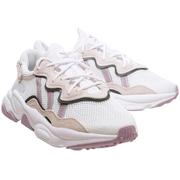 Adidas 三葉草 Ozweego 淡紫白色運動鞋