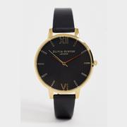 Olivia Burton 黑金配色手表